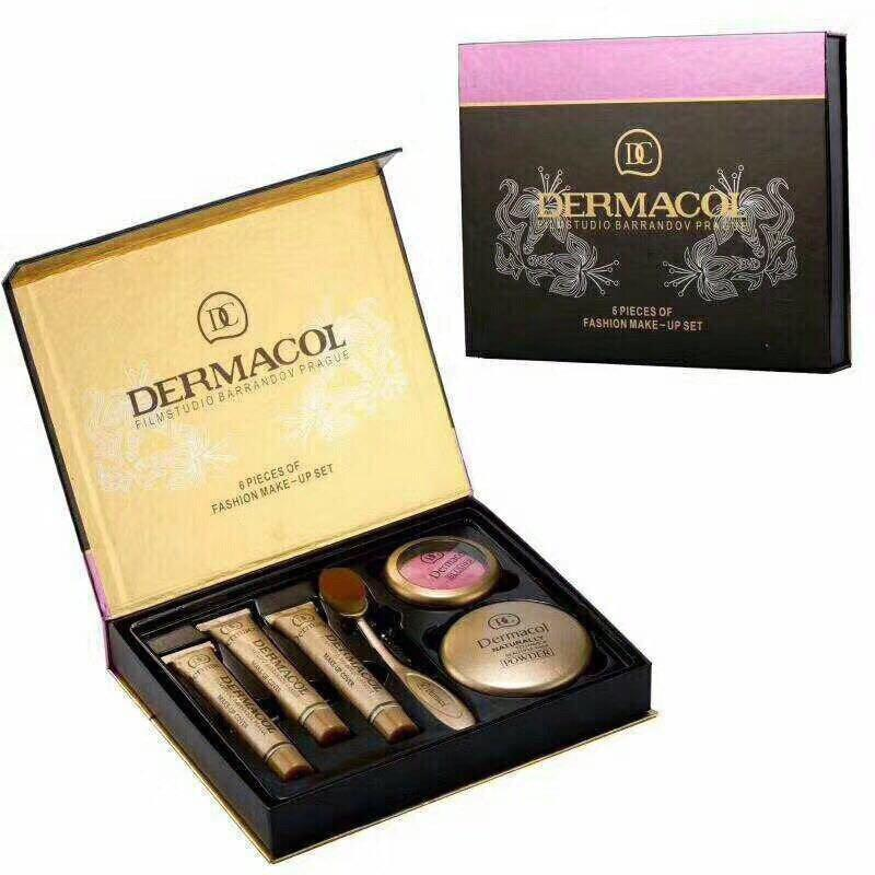 Набор Dermacol Make-up set 6 в 1 тональный крем,пудра,румяна