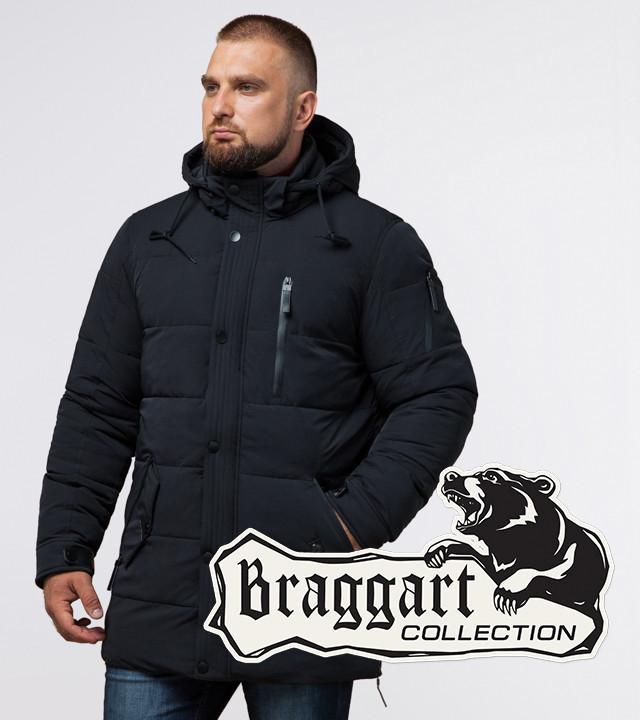 Braggart Status 15625   Зимняя мужская куртка черная