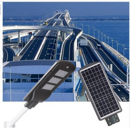 Лед светильник 30W на солнечной батарее с датчиком движения. Фонарь на столб., фото 2