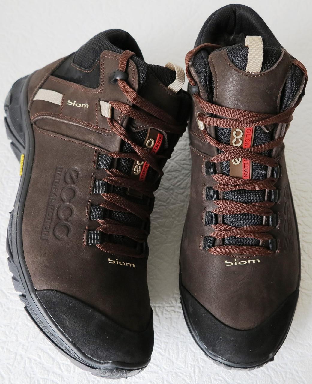 8c43ac34b ... Экко зимние кожаные ботинки из кожи мех в стиле Ессо кроссовки  коричневые , фото 7 ...