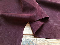Кожа натуральная Велюр т.1,4-1,6мм цвет бордовый