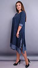 Женское демисезонное платье большие размеры: 52-64, фото 3