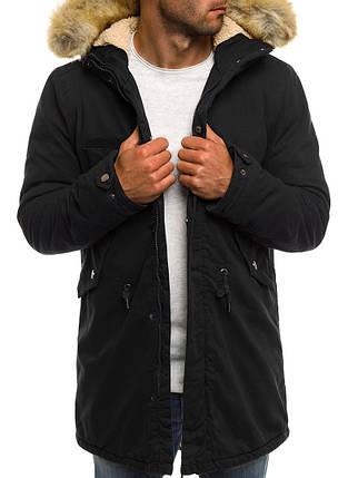 Мужская зимняя куртка AK-CLUB черная, фото 2