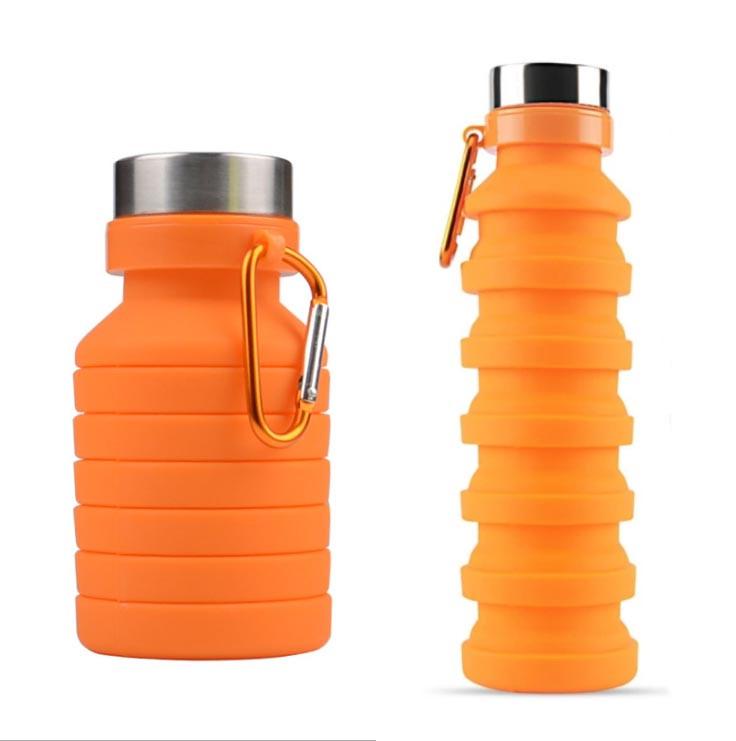 Складная силиконовая бутылка LUX Bottle (оранжевая)