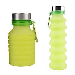 Складная силиконовая бутылка LUX Bottle (салатовая)