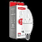LED лампа Maxus C37 6W яркий свет E14 (1-LED-532), фото 2