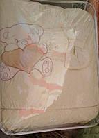 Комплект сменного постельного белья 9 в 1 Хлопок Мишка с сердечком