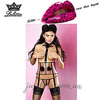 Эротический комплект белья Majestic Lolitta L/XL