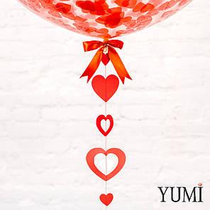 Прозрачный гигант с конфетти и гирляндой сердечки, фото 2