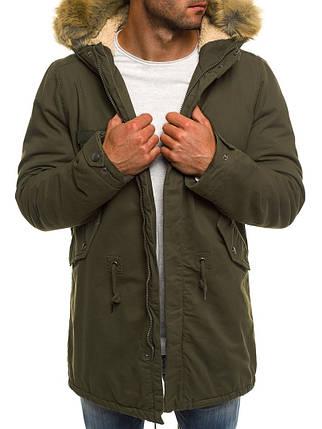 Зимняя мужская куртка AK-CLUB оливковая, фото 2