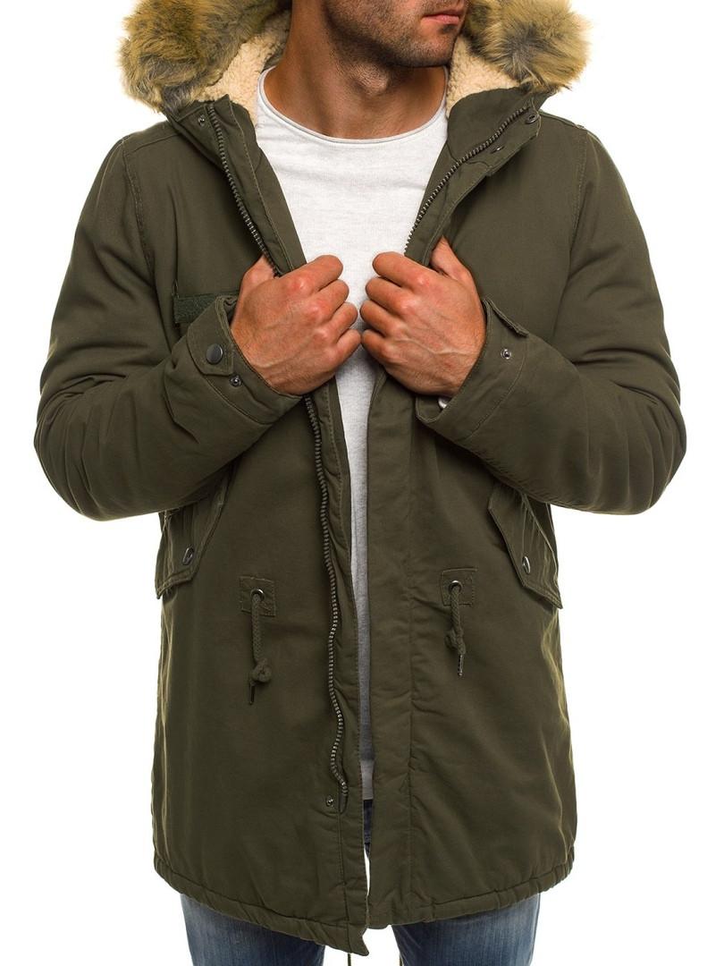 Зимняя мужская куртка AK-CLUB оливковая