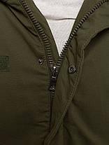 Зимняя мужская куртка AK-CLUB оливковая, фото 3