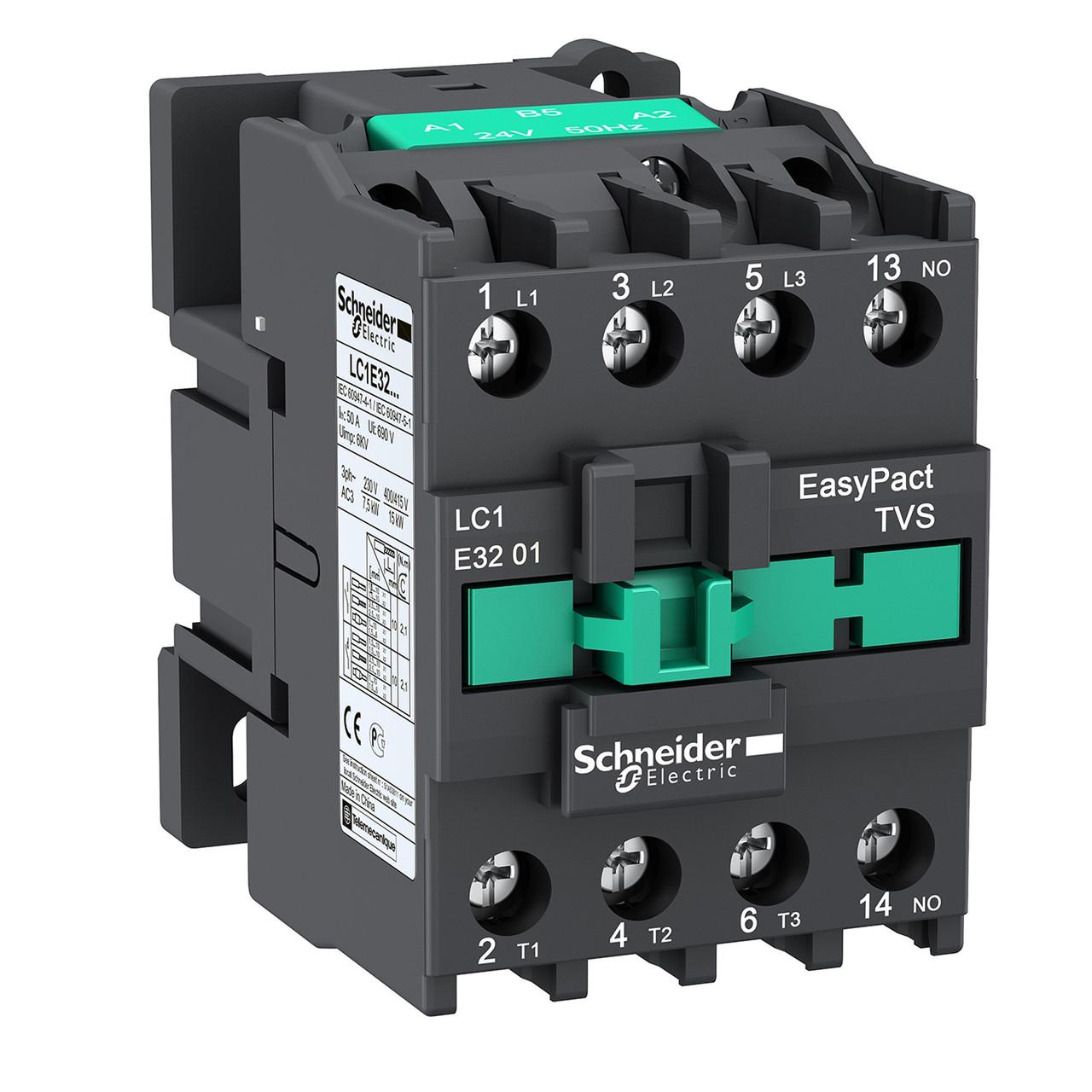 Контактор 32A 3Р 1NC кат. ~220В 50Гц LC1E3201M5