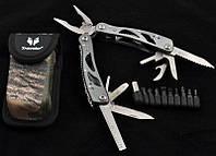 Многофункциональный нож (мультитул) с комплектом бит MT-629 (Черный)