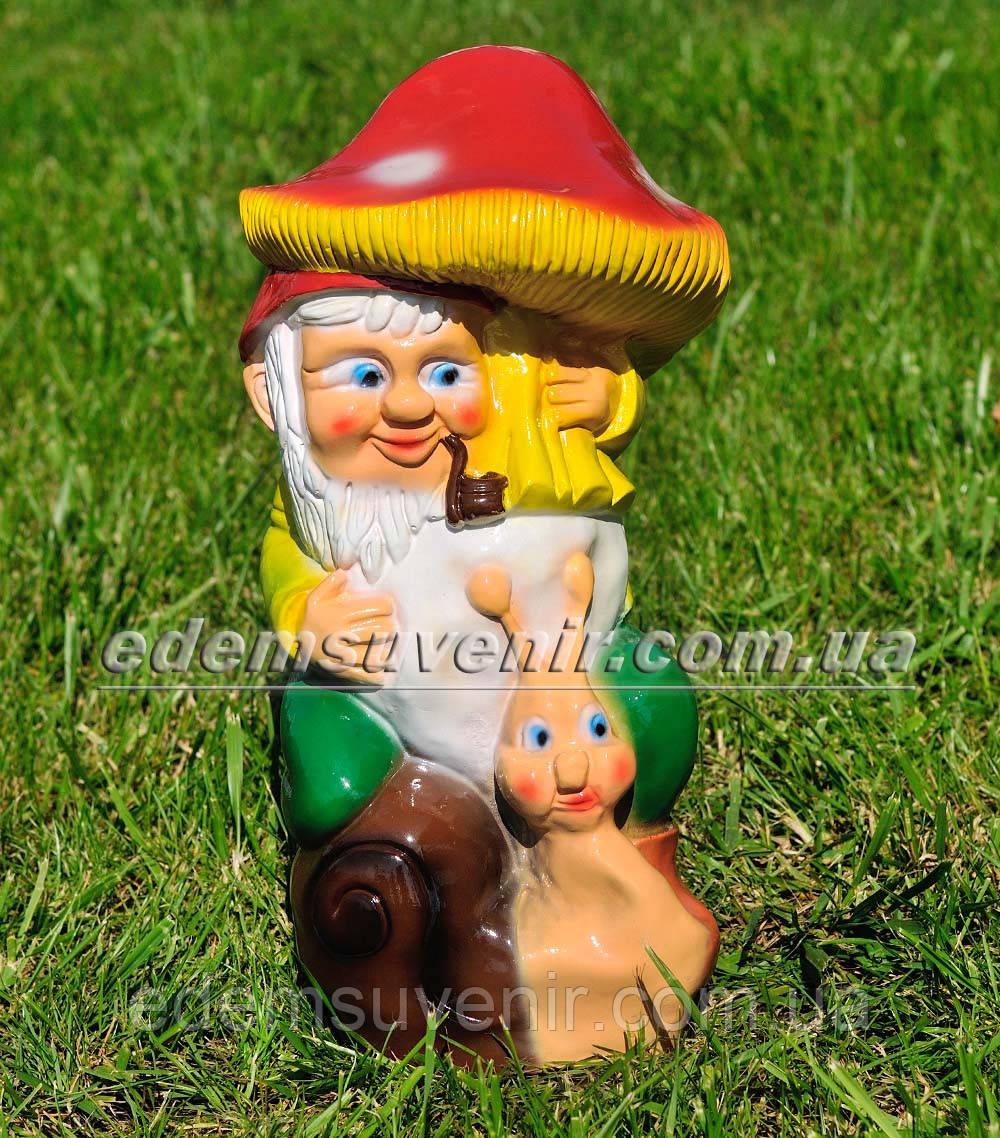 Садова фігура Гном з грибом малий