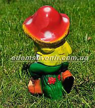 Садова фігура Гном з грибом малий, фото 3
