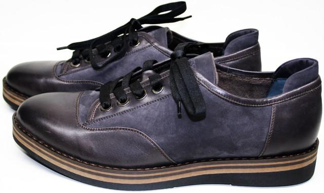 """Осенние туфли мужские с микровельветовой подкладкой. На подошве 2 см годятся для носки до первого """"высокого"""" снега. Конструкция и """"толстая"""" подметка не дадут ногам замерзнуть."""