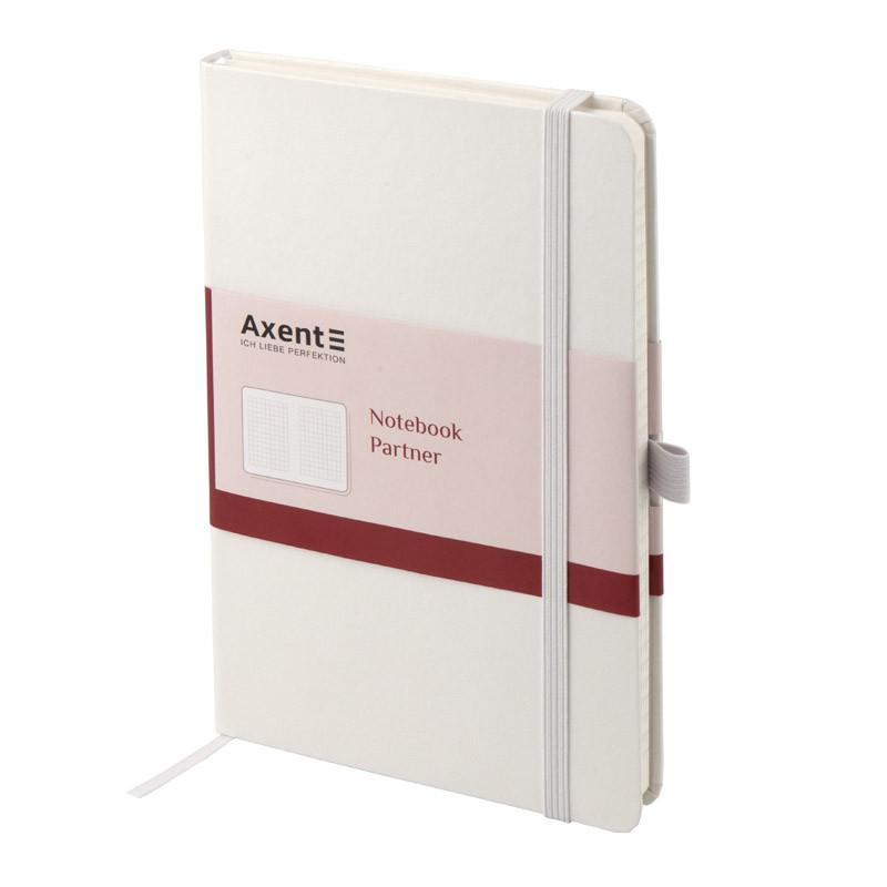 Книга записная Axent Partner 8201-21-A, 125x195 мм, 96 листов, клетка, белая