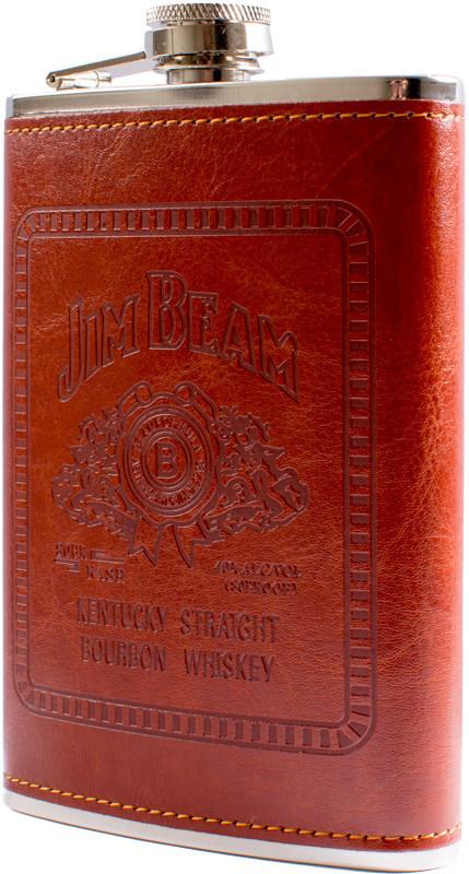 Фляга обтянута кожей (256мл) Jim Beam BP-9