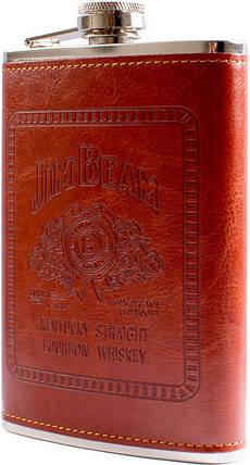 Фляга обтянута кожей (256мл) Jim Beam BP-9, фото 2