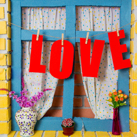 Гирлянда Bonita LOVE на прищепках