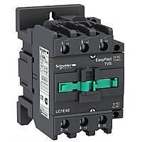 Контактор 40A 3Р 1 NO + 1 NC кат. ~220В 50Гц LC1E40M5, фото 1