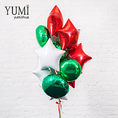 Композиция из шаров с гелием к новому году