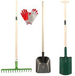 Лопаты, вилы, грабли, тяпки