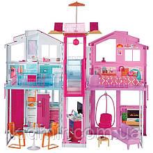 Игровой набор Барби Городской дом Малибу Barbie Pink Passport 3-Story Townhouse