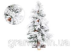 Ель искусственная заснеженная Калгари с шишками, 60 см