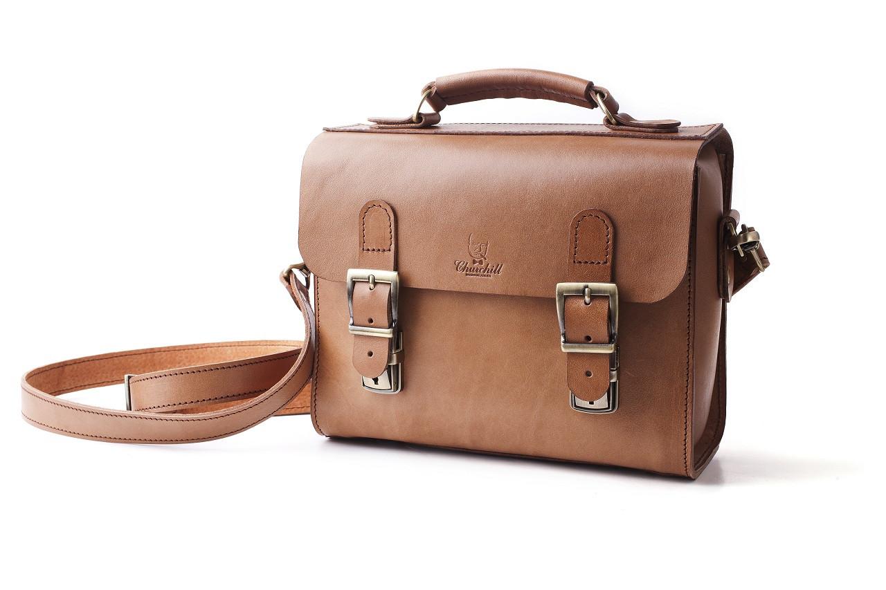 Сумка-портфель кожаная ручной работы «Shoulder bag». Nut