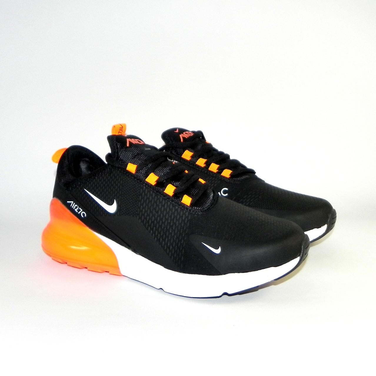 2499fbf8 Кроссовки мужские зимние Nike Air Max 270 Black/Orange (в стиле Найк ...