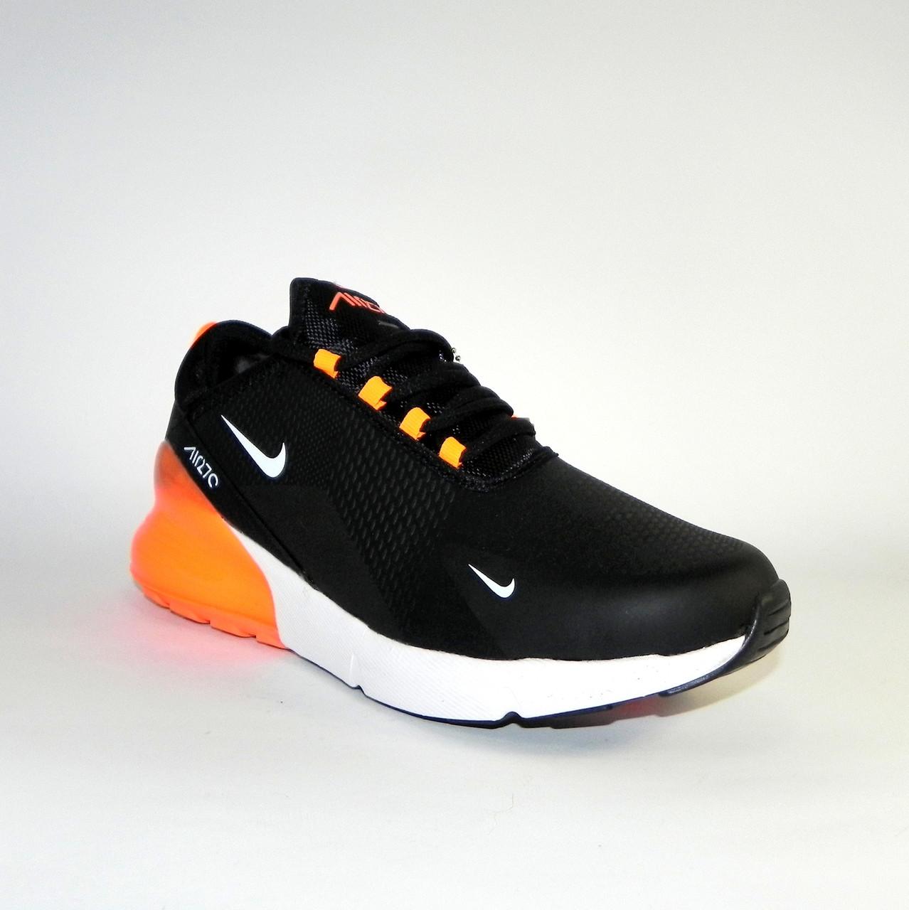 ca1a4713 ... Кроссовки мужские зимние Nike Air Max 270 Black/Orange (в стиле Найк),  ...