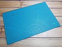 Коврик для раскроя кожи и ткани двухсторонний А3 297 x 420