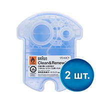 Картриджжидкость для чистки электробритв  Braun CCR Clean & Renew (2 шт.)
