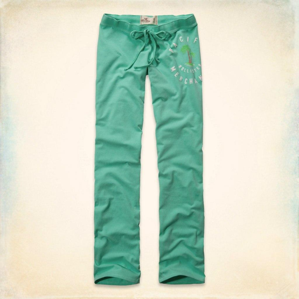 Спортивные штаны  Hollister бирюзовые