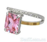 """Серебряное кольцо с золотыми пластинами """"Желание"""""""