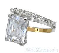 """Серебряное кольцо с золотыми пластинами """"Желание"""", фото 1"""