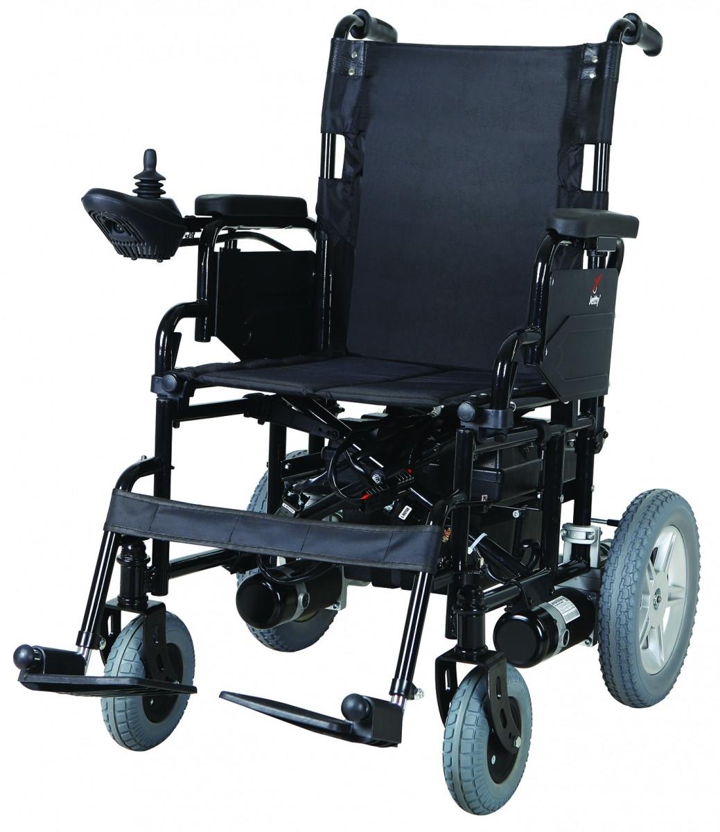 Коляска инвалидная, с двигателем, складная JT-100