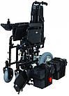 Коляска инвалидная, с двигателем, складная JT-100, фото 4