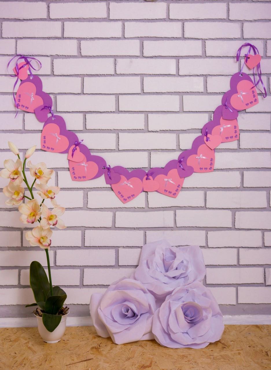 Гирлянда Bonita Нежность фиолетово-розовая