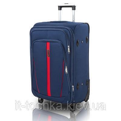 5e90b4a142d3 Большой чемодан на 4-х колесах wings dc1706l-6 синий на 97 литров ...