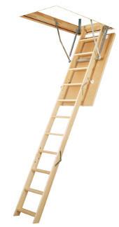Сходи на горище Факро Fakro 120*60 LWS з дерев'яною драбиною купити