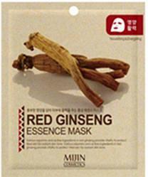 Тканевая Маска Красный Женьшень Омолаживающая Mijin Essence Mask Red Ginseng