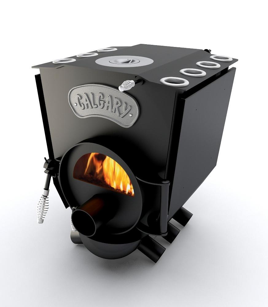 Печь варочная с конфоркой и стеклом (тип-00 ЧК.С) Новаслав Calgary Lux 130 м3