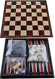 Набор 3в1 Нарды,Шахматы,Шашки (Магнитные, 35х35 см) №57710