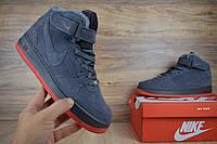 Зимние мужские кроссовки Nike Air Force (реплика), серые