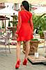 Женское Платье (141)688. (4 цвета) Ткань: креп + сетка со стразами. Размеры: 50, 52., фото 3