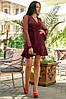 Женское Платье (141)688. (4 цвета) Ткань: креп + сетка со стразами. Размеры: 50, 52., фото 4
