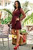 Женское Платье (141)688. (4 цвета) Ткань: креп + сетка со стразами. Размеры: 50, 52., фото 5